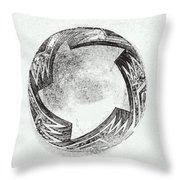 Aztec Bowl Throw Pillow
