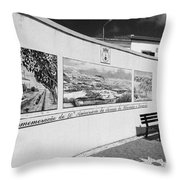 Azulejo Mural In Azores Throw Pillow