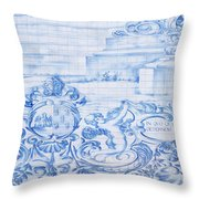 Azulejos Traditional Tiles In Porto Portugal Throw Pillow