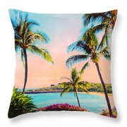 Azure Blue Throw Pillow