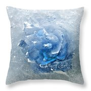 Azure Touch  Throw Pillow