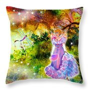 Azuria In Her Banquet Gown Throw Pillow