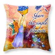 Azuria - Share The Simple Pleasures Throw Pillow
