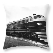 B & O New Diesel Engines Throw Pillow