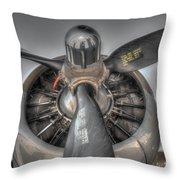 B-17g Bomber Prop Throw Pillow