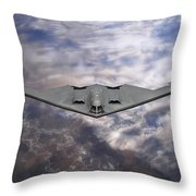 B-2 Stealth Bomber Throw Pillow