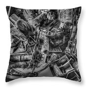 B-24 Bomber Belly Gunner - 1943 Throw Pillow