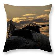B-25 Sunset Throw Pillow