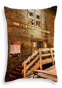 B And O Station Museum Throw Pillow
