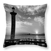 B And W Biloxi Sunset I Mlo Throw Pillow