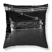 B And W Port  Throw Pillow