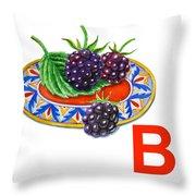 B Art Alphabet For Kids Room Throw Pillow
