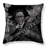 B B King Throw Pillow