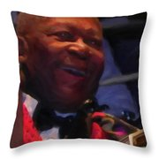 B. B. King Throw Pillow