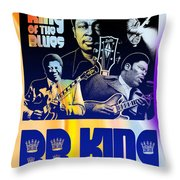 B. B. King Poster Art Throw Pillow