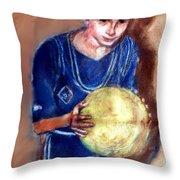 B-ball Throw Pillow