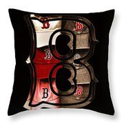B For Bosox - Vintage Boston Poster Throw Pillow