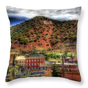 B Hill Over Historic Bisbee Throw Pillow