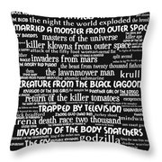 B Movies Science Fiction 20130627bw Throw Pillow