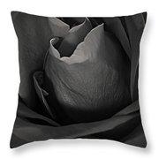 B-w Rose Throw Pillow