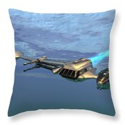 B Wing Aircraft Throw Pillow
