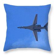 B1-b Lancer In The Skys Over Las Vegas Throw Pillow