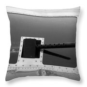 B17 50 Cal Machine Gun Throw Pillow