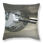 B17 Belly Guns Throw Pillow