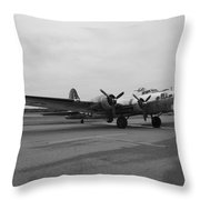 B17 Bomber Parked Throw Pillow