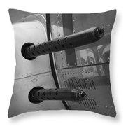 B17 Bomber Side Guns Throw Pillow