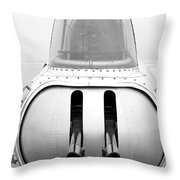B17 Bomber Tail Guns Throw Pillow