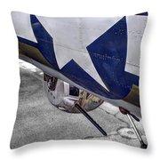 B17 Texas Raiders V12c Throw Pillow