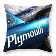 B5 Blue Superbird Throw Pillow