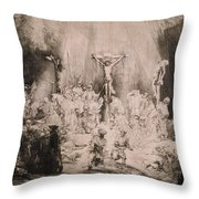 The Three Crosses, Circa 1660 Throw Pillow