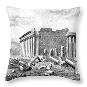 Baalbek Aka Heliopolis, 1845 Throw Pillow