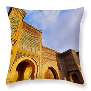 Bab Mansour In Meknes In Morocco Throw Pillow
