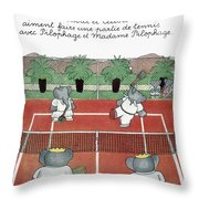 Babar The Elephant, 1930s Throw Pillow