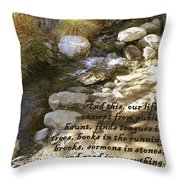 Babbling Brook William Shakespeare Quote Throw Pillow