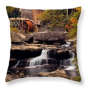 Babcock Grist Mill And Falls Throw Pillow