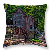 Babcock State Park Paint Throw Pillow