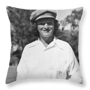 Babe Didrikson Portrait Throw Pillow