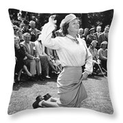 Babe Didrikson Zaharias Throw Pillow