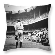 Babe Ruth Poster Throw Pillow by Gianfranco Weiss