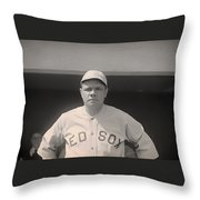 Babe Ruth With The Sox Throw Pillow