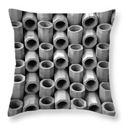 Babel In Black And White Throw Pillow