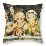 Babes N' Bitchies Throw Pillow by Shelly Wilkerson