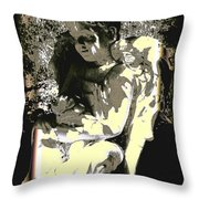 Baby Angel With Teddy Throw Pillow