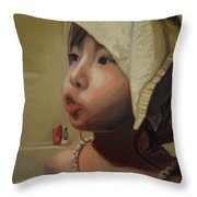 Baby Bath Mama Throw Pillow