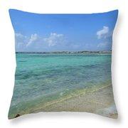 Baby Beach Aruba Throw Pillow