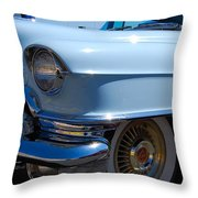 Baby Blue Caddy Throw Pillow